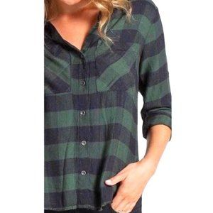 Anthropologie Plaid Button Down: LIKE NEW!